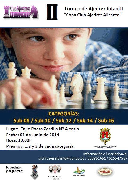 Torneo de Ajedrez infantil en Alicante