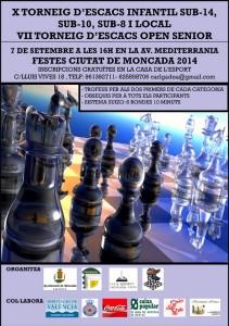 TORNEO AJEDREZ MONCADA 2014 @ MONCADA   Moncada   Comunidad Valenciana   España