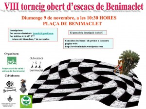 torneo ajedrez benimaclet