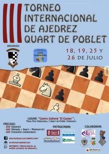 TORNEO QUART DE POBLET @ Centro Cultural El Casino   Quart de Poblet   Comunidad Valenciana   España