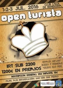 Cartel Torneo Open Turista