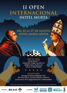OPEN AJEDREZ MURTA @ Hotel Murta | Xàtiva | Comunidad Valenciana | España