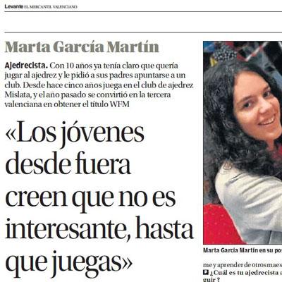 Jugadora de ajedrez Marta García