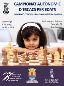 cartel torneo ajedrez guadassuar