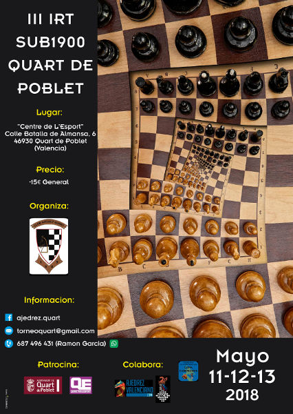 cartel torneo ajedrez Quart