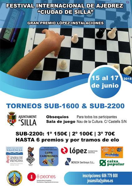 cartel torneo ajedrez silla