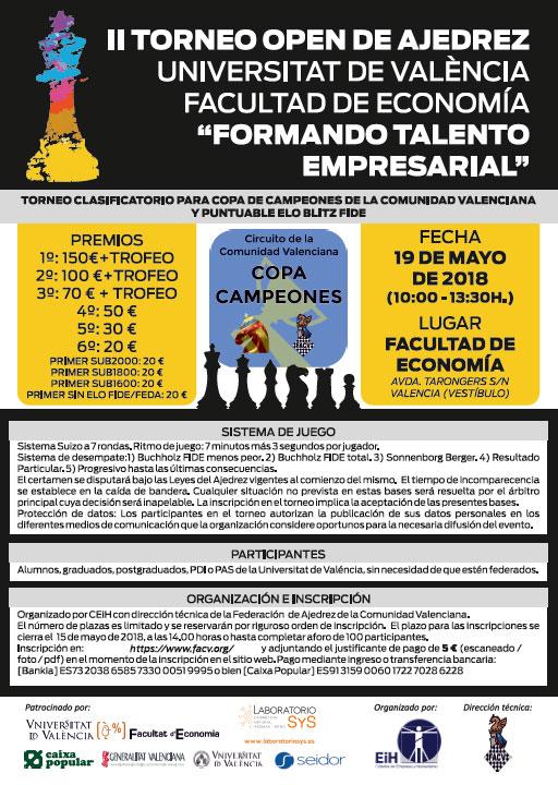 cartel torneo ajedrez facultad economía