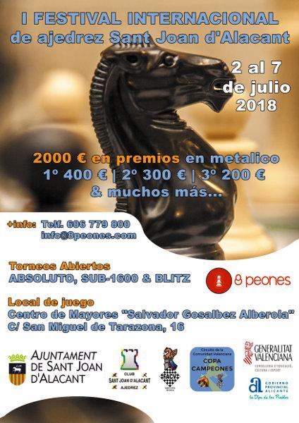 cartel torneo ajedrez Sant Joan