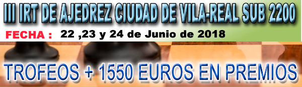 banner torneo ajedrez en Vila-real
