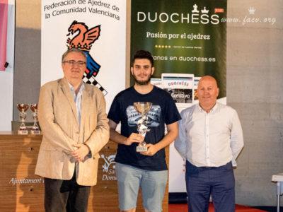 Pablo Cruz ganador open ajedrez