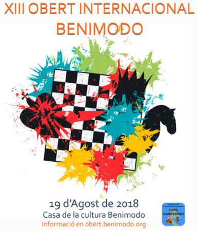 cartel torneo ajedrez en Benimodo
