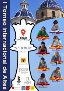 cartel torneo ajedrez Altea, Alicante