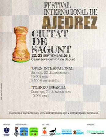cartel torneo ajedrez Sagunto. España