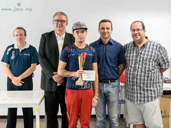 Campeón Torneo Ajedrez en Quart, Valencia