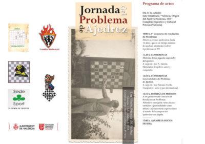 JORNADA PROBLEMAS AJEDREZ @ Centro Cultural y Deportivo La Petxina, Valencia