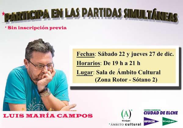 partida de ajedrez simultánea en Elx, España