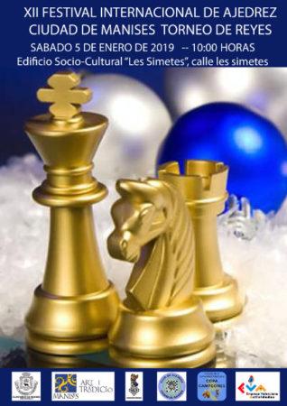 cartel torneo ajedrez en Manises, Valencia