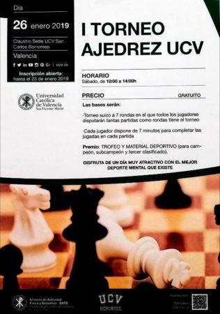 cartel torneo ajedrez Valencia España