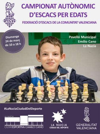 campeonato ajedrez jóvenes Comunidad Valenciana España