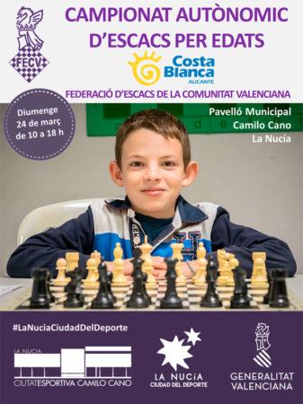 cartel torneo ajedrez Comunidad Valenciana