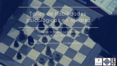 Taller psicología en ajedrez @ Complejo La Petxina Valencia