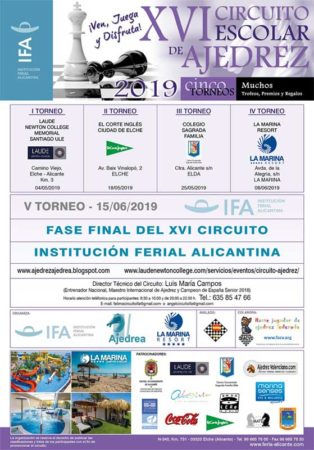 torneo ajedrez escolar Alicante, España