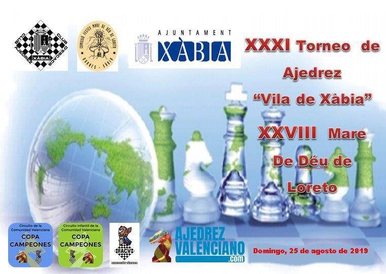 Torneo de ajedrez en Xàbia Alicante España