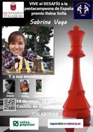 Simultanea de ajedrez Sabrina Vega