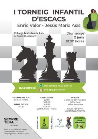 infantil ajedrez Alicante