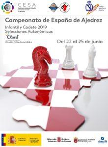 cartel campeonato España ajedrez escolar