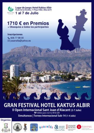 cartel torneo ajedrez en Alicante
