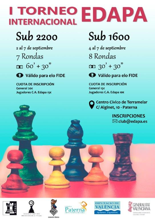 torneo ajedrez Edapa Valencia