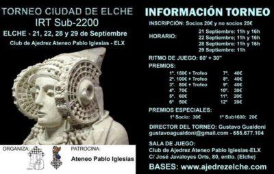 Ciudad de Elche S2200 @ Club de Ajedrez Ateneo Pablo Iglesias – ELX
