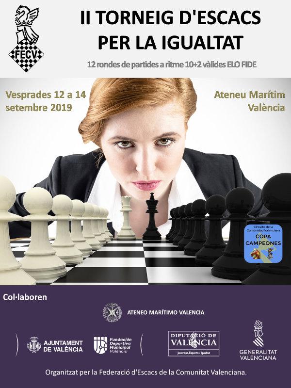 cartel torneo ajedrez València