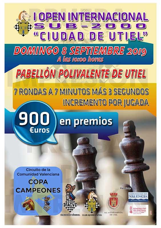 torneo ajedrez en Utiel (España)
