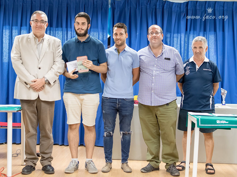 Pablo Cruz LLedo con Luis Barona Boj y Manuel Portillo