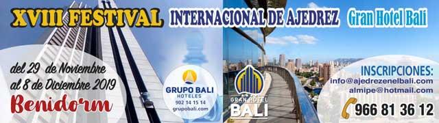 Festival Ajedrez Gran Hotel Bali