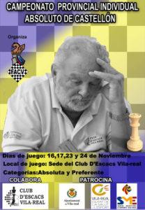 cartel torneo ajedrez en Castellón