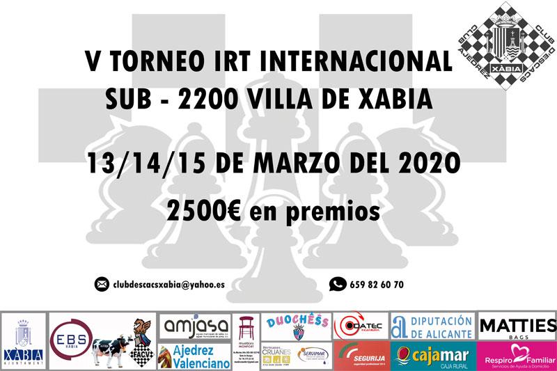 cartel torneo ajedrez en Xabia (Alicante)