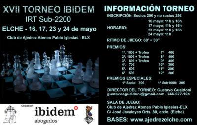 IRT S-2200 Elx @ Club de Ajedrez Ateneo Pablo Iglesias