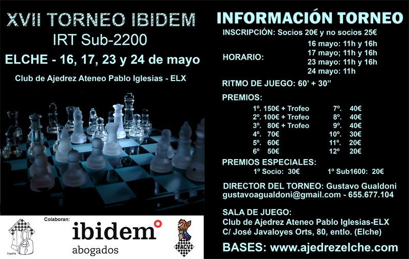cartel torneo ajedrez en Elx