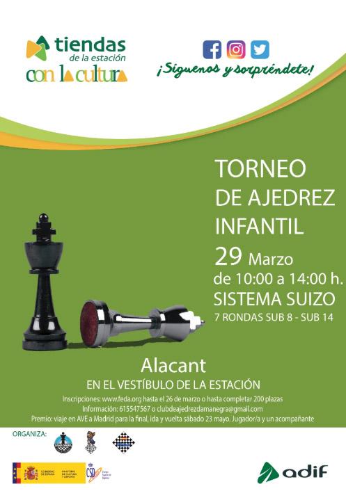 cartel torneo ajedrez Alacant