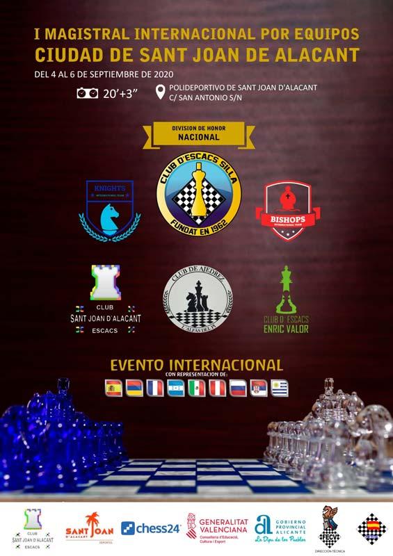 cartel torneo de ajedrez en Alicante