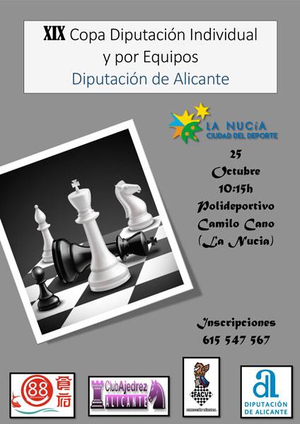 cartel de torneo de ajedrez en La Nucía, Alicante