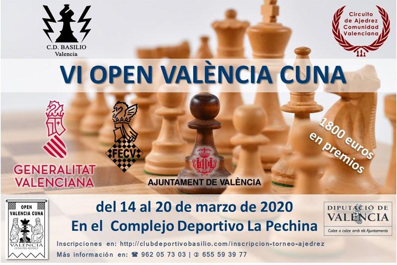 cartel torneo ajedrez en Valencia (España)