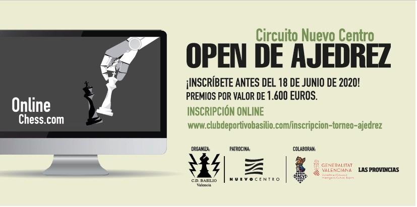 cartel anunciador torneo de ajedrez