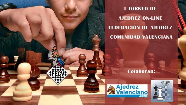 cartel torneo de ajedrez con jugador realizando movimiento