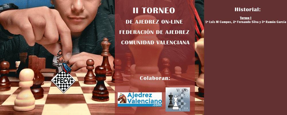 cartel torneo ajedrez con piezas y tablero