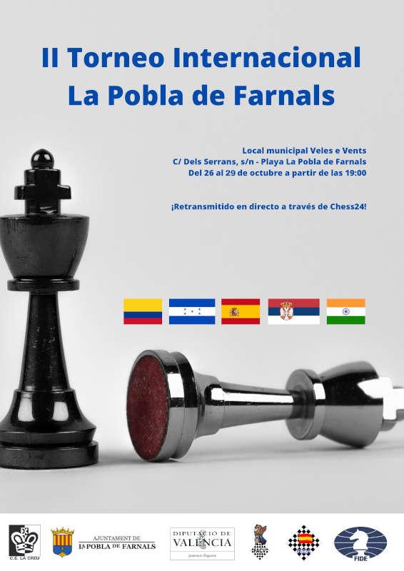 cartel de torneo de ajedrez en Pobla de Farnals
