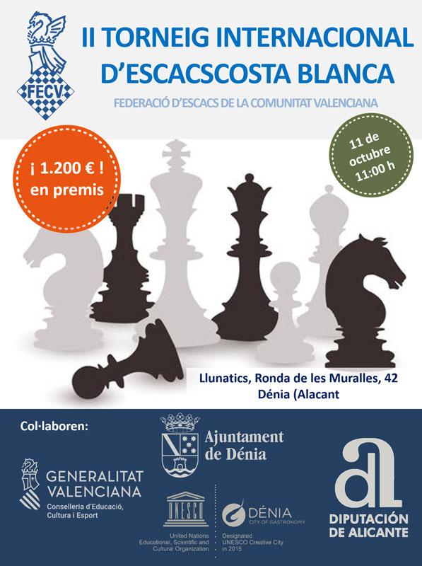 cartel con varias figuras de ajedrez